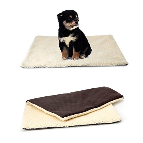 Dairyshop Super Doux Self Chauffage Cat Lit pour chien Coussin pour animal domestique en polaire chaude thermique Tapis Matelas