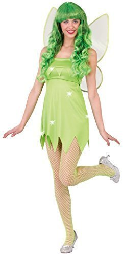 Damen Sexy Grün Pixie Märchen TV Buch Film Cartoon Halloween Hen Do Fancy Kleid Kostüm Outfit 12-14 - Grün, (Outfit Märchen Sexy)