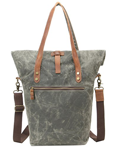 Menschwear Impermeabile Vintage Canvas Messenger Bags Casual Spalla Dell'imbracatura Pacchetto Daypack Beige Verde
