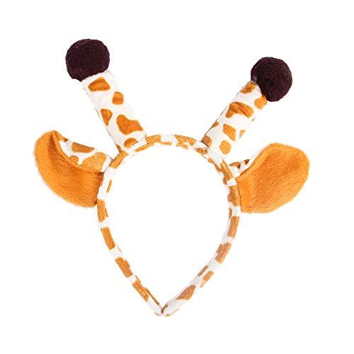 YOYGADING Hund Pet Kostüme Outfits Pitbull Hund Hut mit Ohren für Halloween & Weihnachten Hund Kopf tragen Haarschmuck, Giraffe, 40-50cm