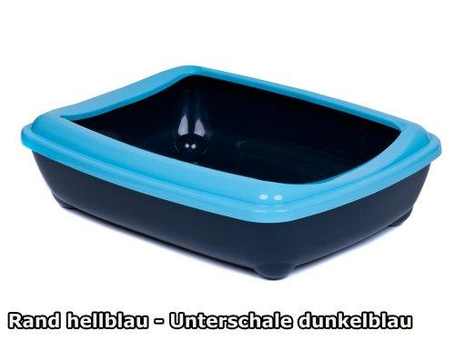 katzeninfo24.de adena Katzentoilette Schale 57 cm C220 mit Rand hellblau Unterschale blau