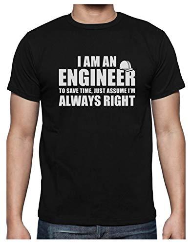 Camiseta para Hombre - I Am An Engineer - Regalo Divertido para Ingenieros Large Negro