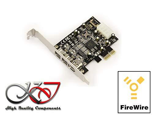 CI-Express-Karte / Controller-Karte (FireWire 800 und 400 / IEEE 1394a und IEEE 1394b über PCIe 1x, 2+1 Ausgänge, Chipsatz TI XI02213BZAY ()