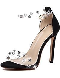 Zapatos De Mujer De Verano Sandalias De Tacón De Aguja Para Mujer Zapatos De Tacón Alto Zapatos De Tobillo Peep Toe