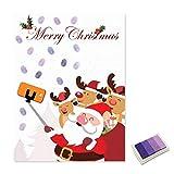 Kawaii Weihnachten Weihnachtsmann Gästebuch Personalisierte Party Geschenke Fingerprint Malerei DIY Partydekorationen Mit Stempelkissen