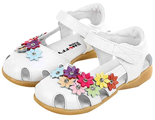 La Vogue Chausson Souple Enfant Bébé Fille Fleur Chaussure Princesse Marche Premier Pas Été Blanc