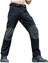 Free Soldier - Pantalones todoterreno para hombre, uso exterior, tejido Cordura y Kevlar, revestimiento de Teflón, impermeables, hombre, color negro, tamaño medium