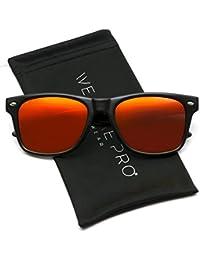 Polarizadas plano Espejo reflectante Revo lente de color Tamaño Grande con borde de cuerno estilo gafas
