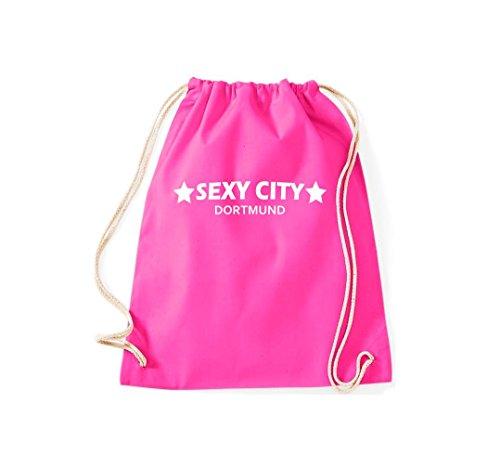 City Turnbeutel Stadtbeutel Kultsack Gymsack Sexy Pink Dein Dortmund vqFaq5