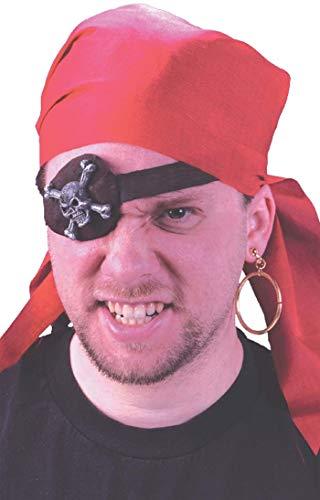 Fancy Me Damen Herren Pirat Deckhand Augenklappe Ohrring TV Buch Film Halloween Kostüm Zubehör Kit
