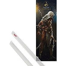 Póster + Soporte: Assassin's Creed Póster para la puerta (158x53 cm) Origins Y 1 Lote De 2 Varillas Transparentes 1art1®