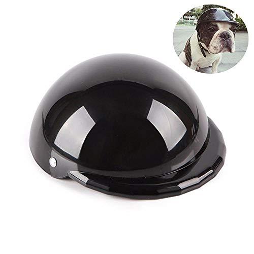 Hunde-Helm, Cool Pet Hut Funny Dog Motorcycle Helm Cap mit Windproof Regenschutz & UV Sonnenschutz, Schützen Sie Ihren Pet für das Reiten Outdoor-Aktivitäten