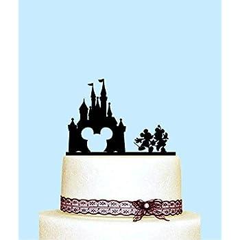 Astonishing Mickey And Minnie Wedding Cake Topper Disney Castle Wedding Cake Personalised Birthday Cards Beptaeletsinfo