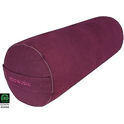 Chin Mudra - Para Yoga 100% algodón orgánico 65x23cm, color ciruela