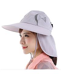 Pesca de moda de verano al aire libre de Protección Solar Cap cuello de la cara de la aleta de sombrero de ala ancha , light orchid