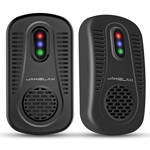 JAKIELAX Ultrasonic Pest Repeller for Insects, Mosquitoes, Mice, Spiders, Ant, Rats, Roaches, Bugs/Non-toxic, Extremely Safe for Human, Pets - 01 (Pest repeller 2 pack)