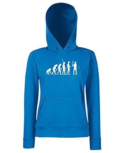 T-Shirtshock - Sweats a capuche Femme OLDENG00803 evolution tennis Bleu Royal