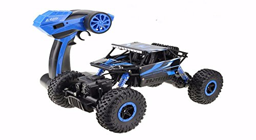 RC Auto, dexop 2,4Hz Elektrische Rock Crawler Radio Control Auto Off Road High Speed Racing Fernbedienung Cars, blau (Rc-cars Allradantrieb)