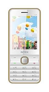 Intex Turbo V7 Dual SIM Mobile Phone (White-Gold)