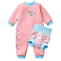 Splash About Warm in One Baby Wetsuit and Matching New Improved Happy Nappy (12-24 Months, Nina