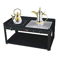 سخان دلال قهوة والشاي غاز وكهرباء أسود DLC-5538