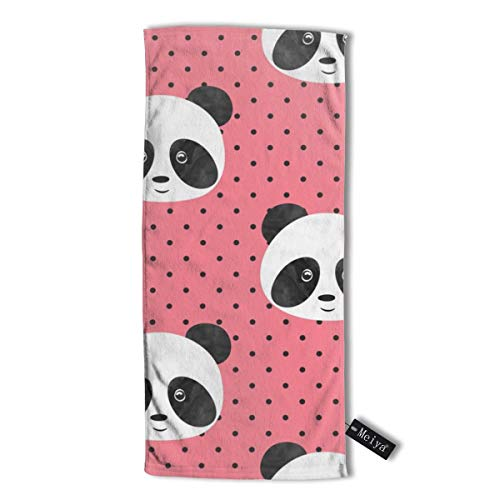 Pillowcase Wholesale Pandas On Polka Dots Multi-Purpose Microfiber Towel Ultra Compact Super Absorbent and Fast Drying Sports Towel Travel Towel Beach Towel. - Athletic Striped Wrap
