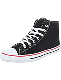 Sneakers für Damen und Herren Unisex Turnschuhe Schnürsenkel Ital-Design