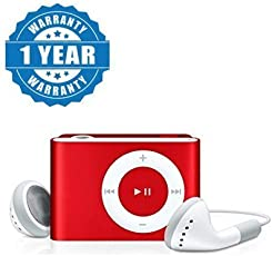 Captcha Stylish MP3 Player with FM Radio Metal Body For All Android/Iphone Devices (Red, Color May Vary)
