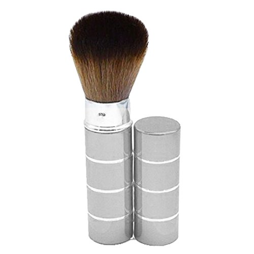 Versenkbare weiche Gesicht Cheek Powder Foundation Blush Pinsel Make-up-Tool-Silber