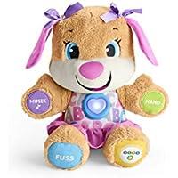 Fisher-Price FPP53 Lernspaß Hundefreundin interaktives Plüschtier und Lernspielzeug mit mitwachsenden Spielstufen Liedern und Sätzen, ab 6 Monaten deutschsprachig preisvergleich bei kleinkindspielzeugpreise.eu
