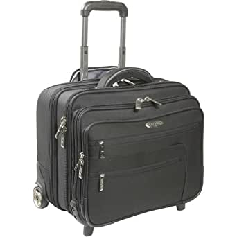 Samsonite Business Cases Polyester Triple Gusset Wheeled Portfolio - Black