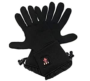 040e2f3352 Thermrup Beheizbare Handschuhe Unterziehhandschuhe mit 4 Stufen  Temperaturregler, Akkubetrieb (S)
