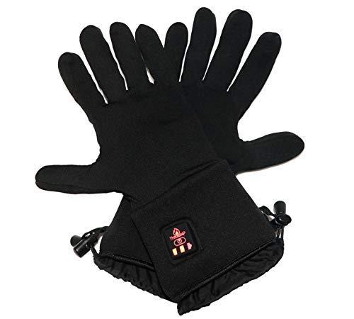 Thermrup Beheizbare Handschuhe Unterziehhandschuhe mit 4 Stufen Temperaturregler, Akkubetrieb (L-XL)