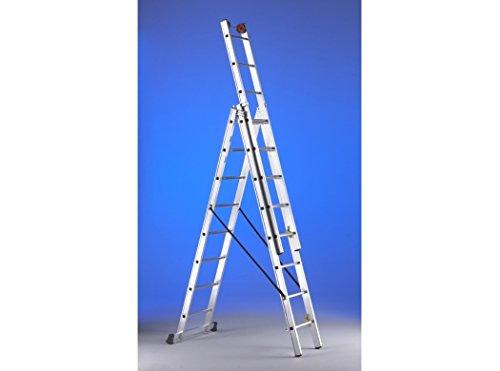 Svelt - Escalera Mixta Aluminio 3X10 Peldaños Hasta 7,20 Mt E310