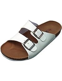 ZhuiKun Pantofole Unisex Adulto - Sandali PU-Cuoio Donna - Pantofole Uomo 82f0b333a53