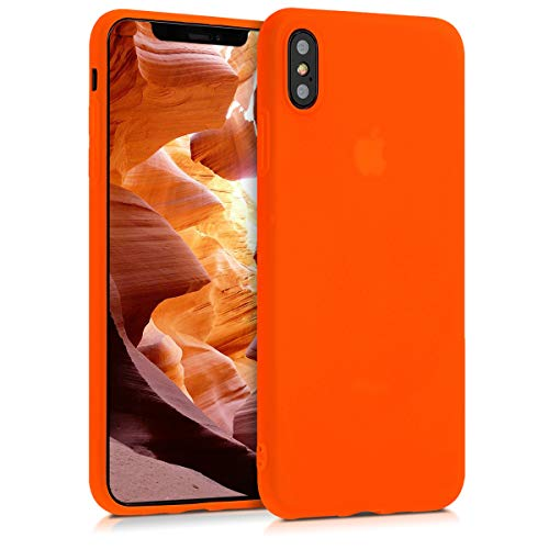 kwmobile Apple iPhone XS Max Hülle - Handyhülle für Apple iPhone XS Max - Handy Case in Neon Orange