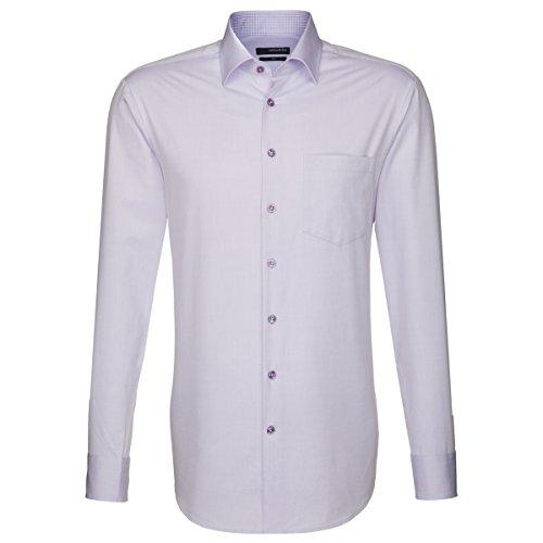 Seidensticker - Camicia classiche - Basic - Classico - Uomo porpora 42 curry (0024)