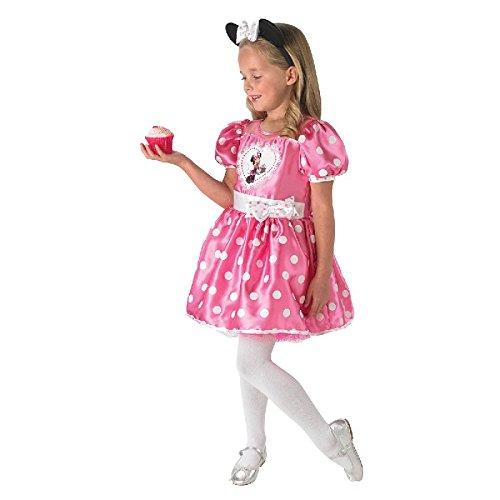 Disney Kinder Kostüm Cupcake Minnie Maus in pink mit Haarrreif ()