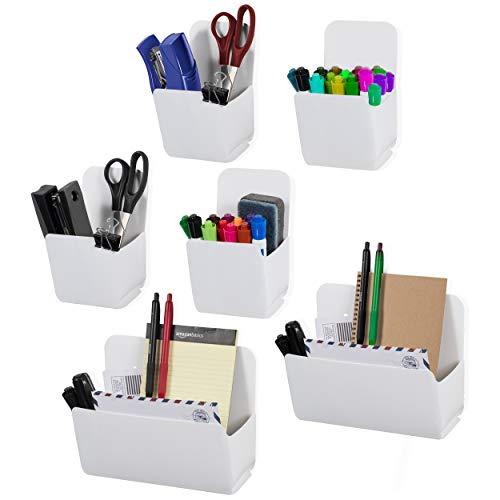 Wall-Sortiment Origami Mehrzweck-Organizer zur Wandmontage, für Büro, Küche und Kinderzimmer, Weiß, Kunststoff, verschiedene Größen, 6 Stück - Schrank Garage Organizer