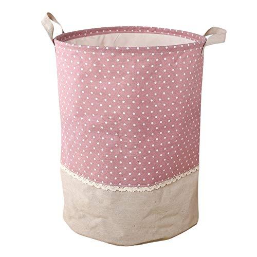 CHOULI Wäschekorb Wasserdicht Faltbare Korbtasche Schmutzige Kleidung Spielzeugaufbewahrung Rosa Bin Wasserdicht Radios