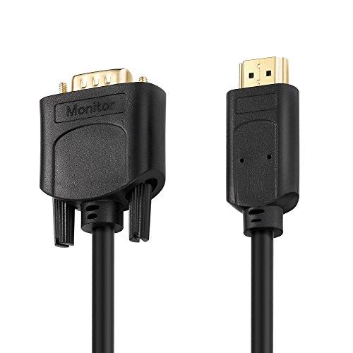 HDSupply X-HC110-020 HDMI auf VGA Kabel 2 m vergoldetet 1080p schwarz