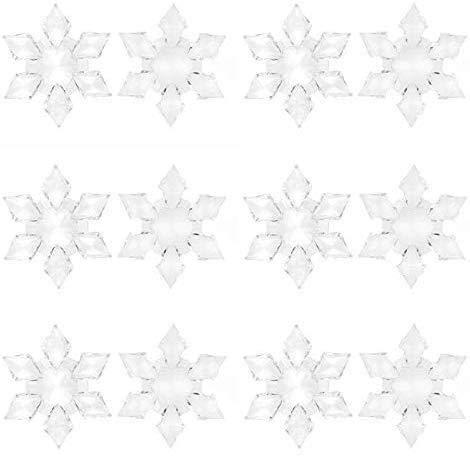 VlugTXcJ 12st Baum Hängende Dekorative Kristallacrylrhinestone-Weihnachtsbaum-Dekoration Personalisierte Plexiglas Flitter Schneeflocken Dekor