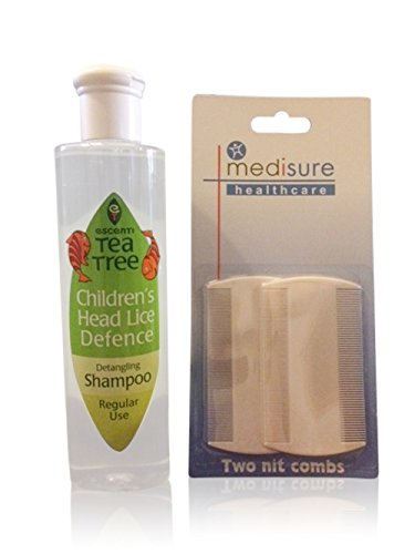 bundle-pack-escenti-tea-tree-lice-defense-shampoo-medisure-twin-pack-of-nit-combs-2-items-bundle