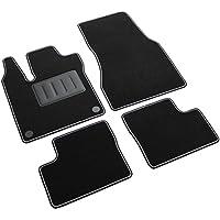 Il Tappeto Auto SPRINT03710 Tapis de Voiture antidérapants en Moquette Noire, Bord Bicolore, Talonnette renforcée en Caoutchouc, pour modèles Twingo III, ForFour W453 à partir de 2015