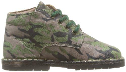 Pèpè 1060/Sb, Chaussures à lacets garçon Vert (Vitello Mimetico)