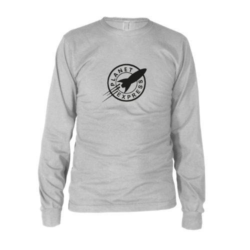 Planet Express - Herren Langarm T-Shirt, Größe: XXL, Farbe: weiß (Bender Und Leela Kostüm)