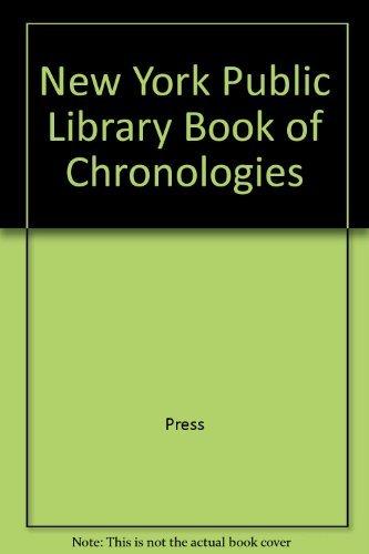 New York Public Library Book of Chronologies by Bruce Wetterau (1990-10-01) par Bruce Wetterau