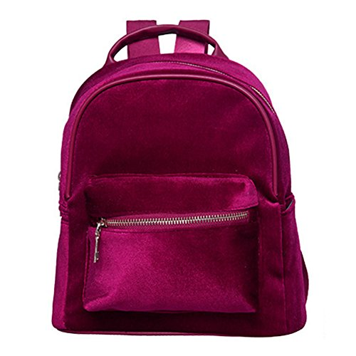 Yiwa , Damen Rucksackhandtasche Rot