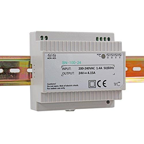 Hutschienen Netzteil LED Trafo 230VAC / 24V DC 4.15A 100W; Konstantspannung DIN-Schiene Netzteil für LED Produkte 24V DC; Schaltnetzteil Hutschienennetzteil