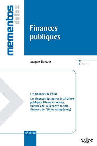 Finances publiques - 15e éd.: Mémentos